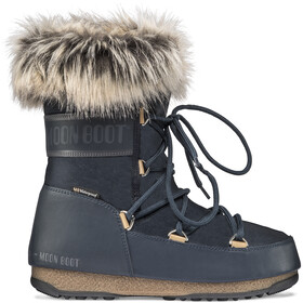 Moon Boot Monaco WP 2 Low-Cut Winterstiefel Damen denim blue